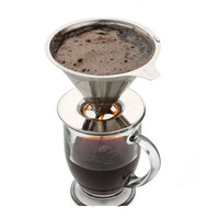 Paperless Stainless Steel Mesh Coffee Dripper V60 Brewer Barista Maker v60 Percolator