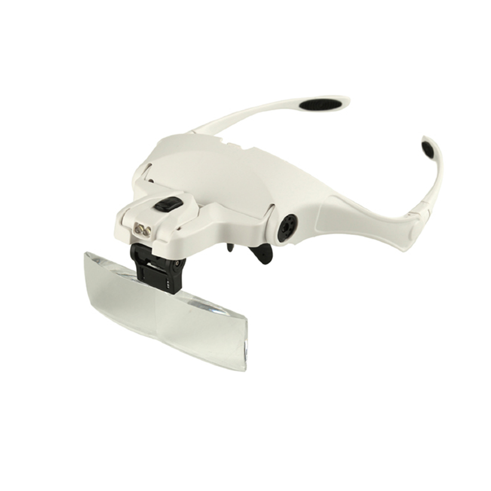 3.5x Magnifier Led Light Handsfree Headband Magnifier Lamp Headband Glasses Magnifying Glasses Reading Glass With 2 Led Lights Eyeglasses Magnifier Tool Mul Handheld magnifier 4 Lens 1.2x 1.8x 2.5x