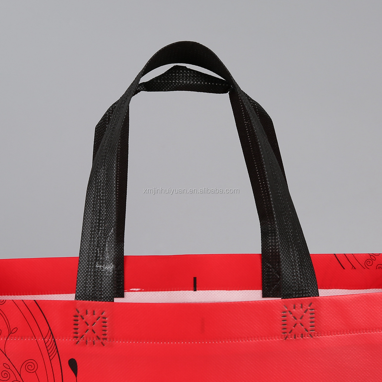 Promotional Customized Laminated Eco Fabric Tote Non-Woven Shopping Bag, Recyclable PP Non Woven Bags