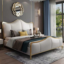 Modern European space saving family luxury <strong>furniture</strong> bedroom design king-size storage sofa bed frame
