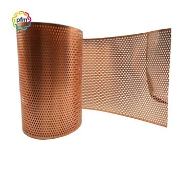 High Quality Copper Brass Perforated Decorative Wire Mesh