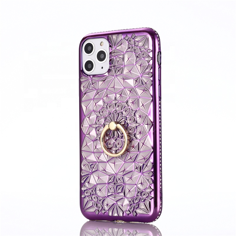 Sun flower <strong>phone</strong> case diamond pattern <strong>phone</strong> case diamond border <strong>phone</strong> case with ring bracket for iPhone11