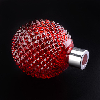 Red grenade style electroplating glass diffuser bottle