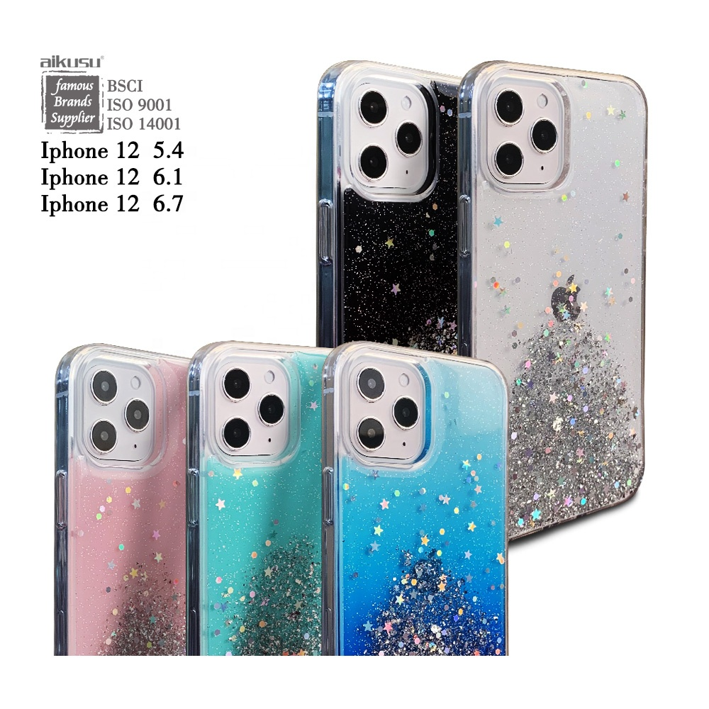 Design your own logo glitter mobile phone case for for iphone 12 11 SE case