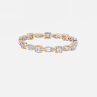Best Selling 750 Yellow Gold Jewelry stackable rings Diamond Eternity Band Delicate Ring Modern Jewelry Real Diamond Ring