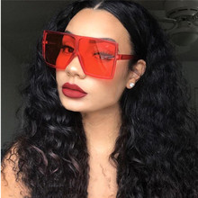 DHK2740 Fashion Style Oversize Gafas Del Sol Custom Big <strong>Plastic</strong> Square Frame <strong>Sunglasses</strong> 2019 Women shade <strong>sunglass</strong>