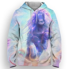 <strong>OEM</strong> full printing <strong>horse</strong> 100% Polyester unique collar design pullover animal hoodies
