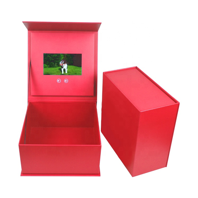 Popular Customized Invitation Small TFT LCD Screen Video Brochure Gift Box for Advertisement