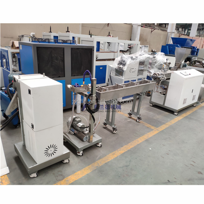 lab scale micro compounding double twin screw Granulating extruder