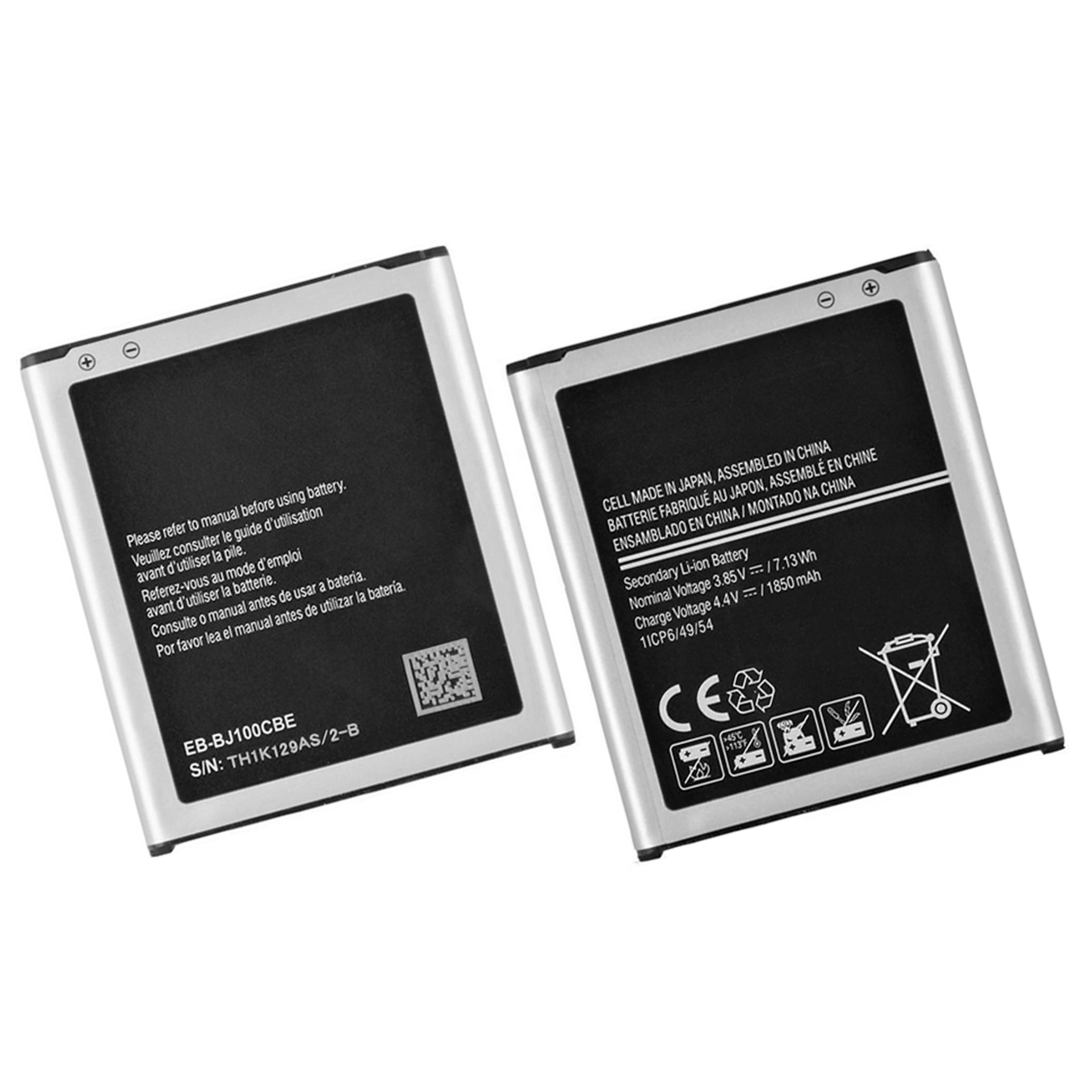 Mobile Phone Battery EB-BJ100CBE for Samsung Galaxy J1 <strong>J100</strong> 3.85V 1850mAh wholesale batteries