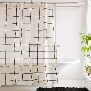 high quality 96 inch thickening and weighting shower curtain