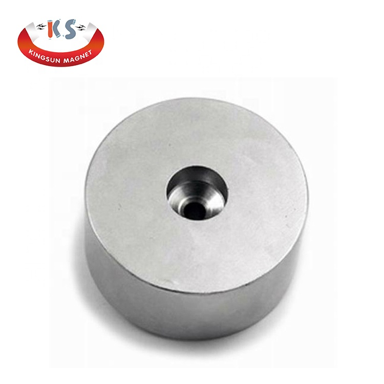 B Strong Neodymium Flat Pot Magnets With Screw Hole