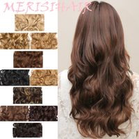 16-Piece Clip-on Water Wave Large Volume Popular High-Temperature Fiber Straight Hair Composite Hair Extension