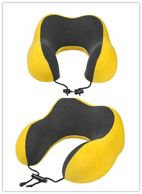 2020 New Design Neck Rest Pillow Travel Memory Foldable U-shape Pillow with an eye mask