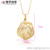 32013 Xuping Jewelry Trendy a fire-like emptiness pendant Shaped Charm Pendant with 18K Gold Plated