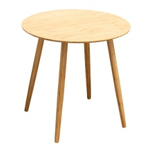 Round Wooden Bamboo Modern Coffee Table for Living Room <strong>Furniture</strong>