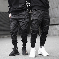 2019 Men Multi-pocket Harem Hip Pop Pants Trousers Streetwear Sweatpants Hombre Male Casual Fashion Cargo Pants Men