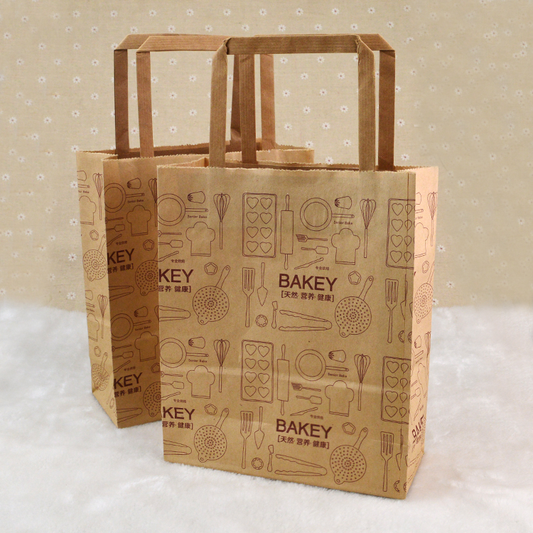 Food Takeout Paper Bags for Bakery Shop