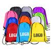 Wholesale polyester sport drawstring backpack, original factory cheap 210D polyester custom promotional drawstring bag