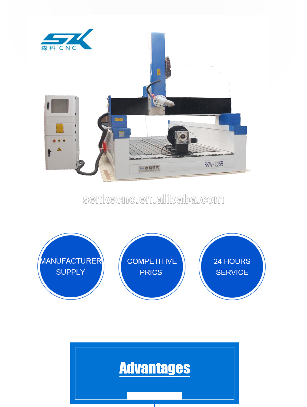 automatic swing head 4 axis cnc router engraver machine for furniture bed door surfboard