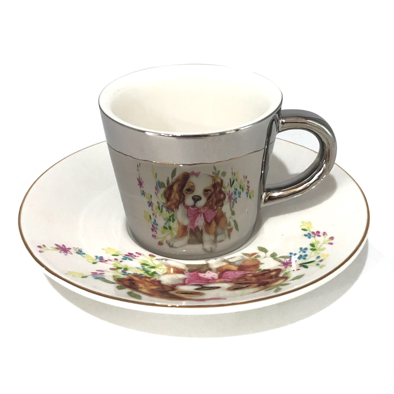 Souvenir hotel home goods & shop coffee porcelain tea cups sets ceramic cup and saucer set