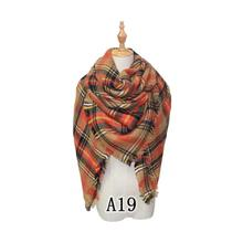 Wholesale high quality woman lady Supersoft Winter Shawl Warm Fashion Plaid Scarf