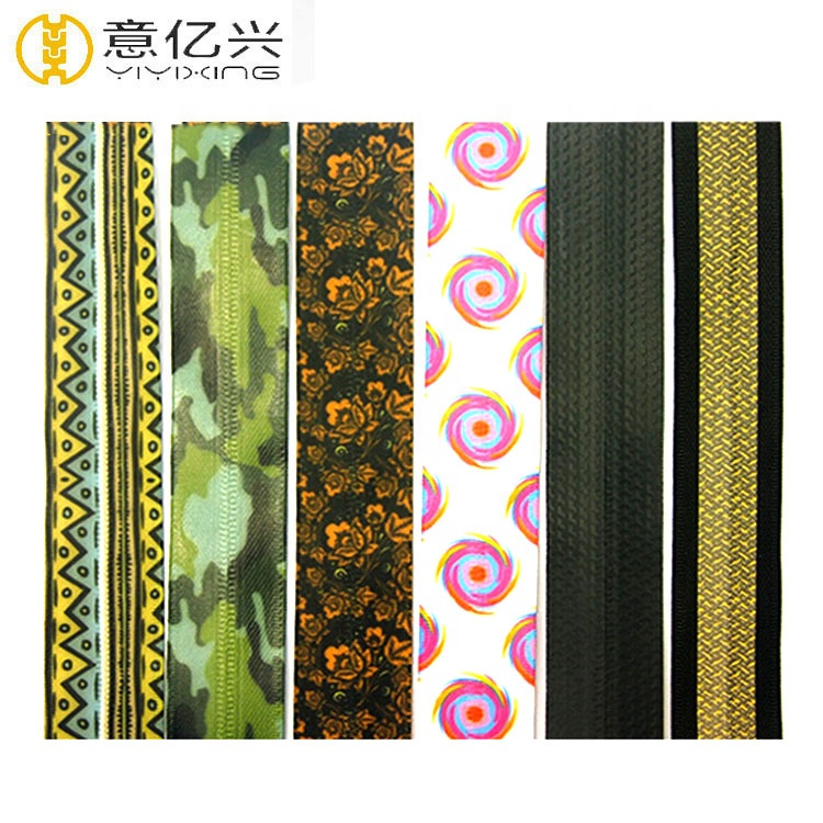 Factory Price Custom Nylon Sublimation Printed Waterproof Zipper Tape