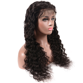 human hair full lace wigs 1B deep wave for black women full lace wig unprocessed 100% human hair wigs with baby hair