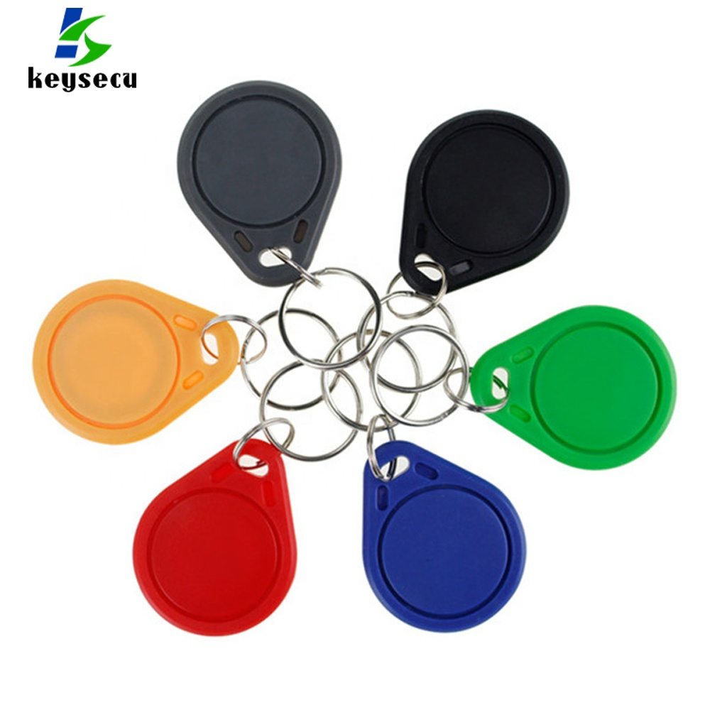 13.56MHz IC M1 S50 Keyfobs Tags Access Control RFID Key Finder <strong>Card</strong> Token Attendance Management Keychain ABS Waterproof