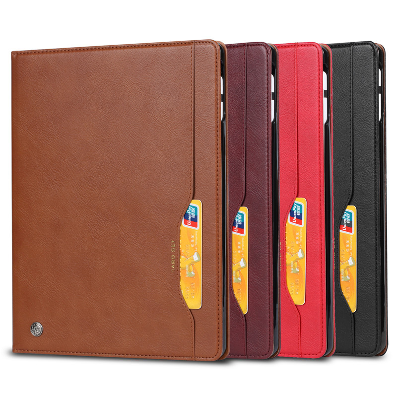 CYKE For <strong>IPAD</strong> 12.9 Luxury Wallet PU Leather Flip Tablet Cover Case with card slots