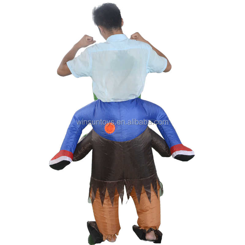 Ninjia warrior inflatable  movable costume  doll  models, animal bespokes movable man for carnival activity