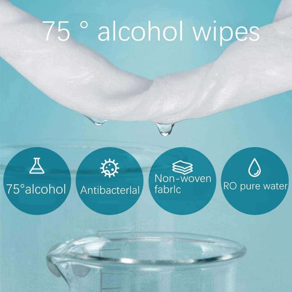 ECO finest 50pcs 75% Alcohol Wipes Hand Antibacterial Wet Wipes / Disinfectant Wipes