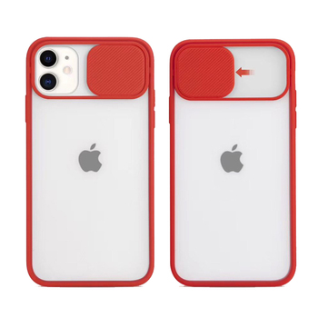 For Apple iPhone 11 12 Pro Max X XR 8 Case Mobile Phone Bags Slide Lens Camera Protection Back Cover PC Frost Matte Phone Cases