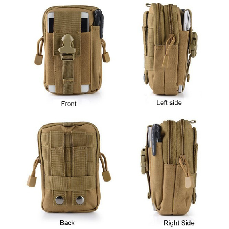 Military Tactical Waist Carry Molle Mobile Phone Pouch Bag For Hiking