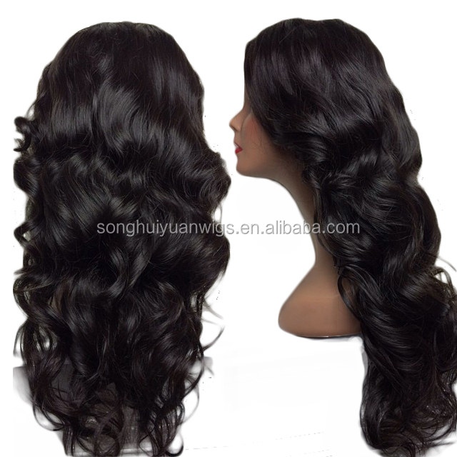 Top Quality Bleach Knots Overnight Delivery Full Lace Human Hair Wig For Black Women