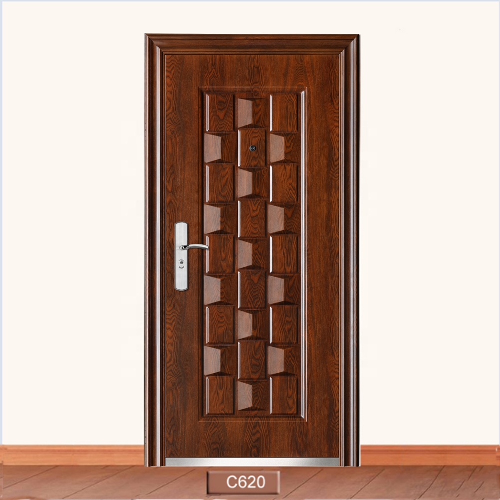 Wholesale Cheap Price Commercial Apartment Morden Front Steel Entry <strong>Door</strong>