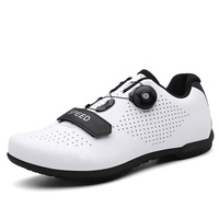 Wholesale In Stock Breathable Couple Big Size Self Locking Training Bicycle Riding Bike Road Cycling Shoes Women