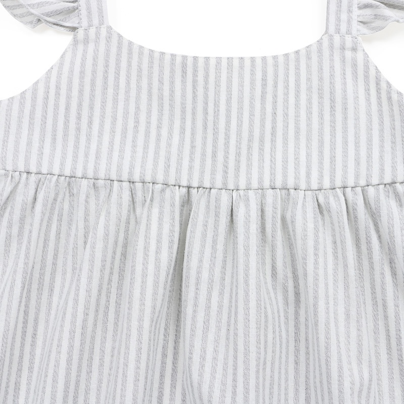 Hot Sale Summer Solid Linen baby girl clothes summer girl dress
