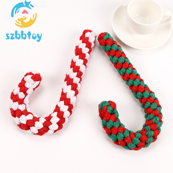 2019 New handmade Christmas toys cotton chew rope pet dog toy