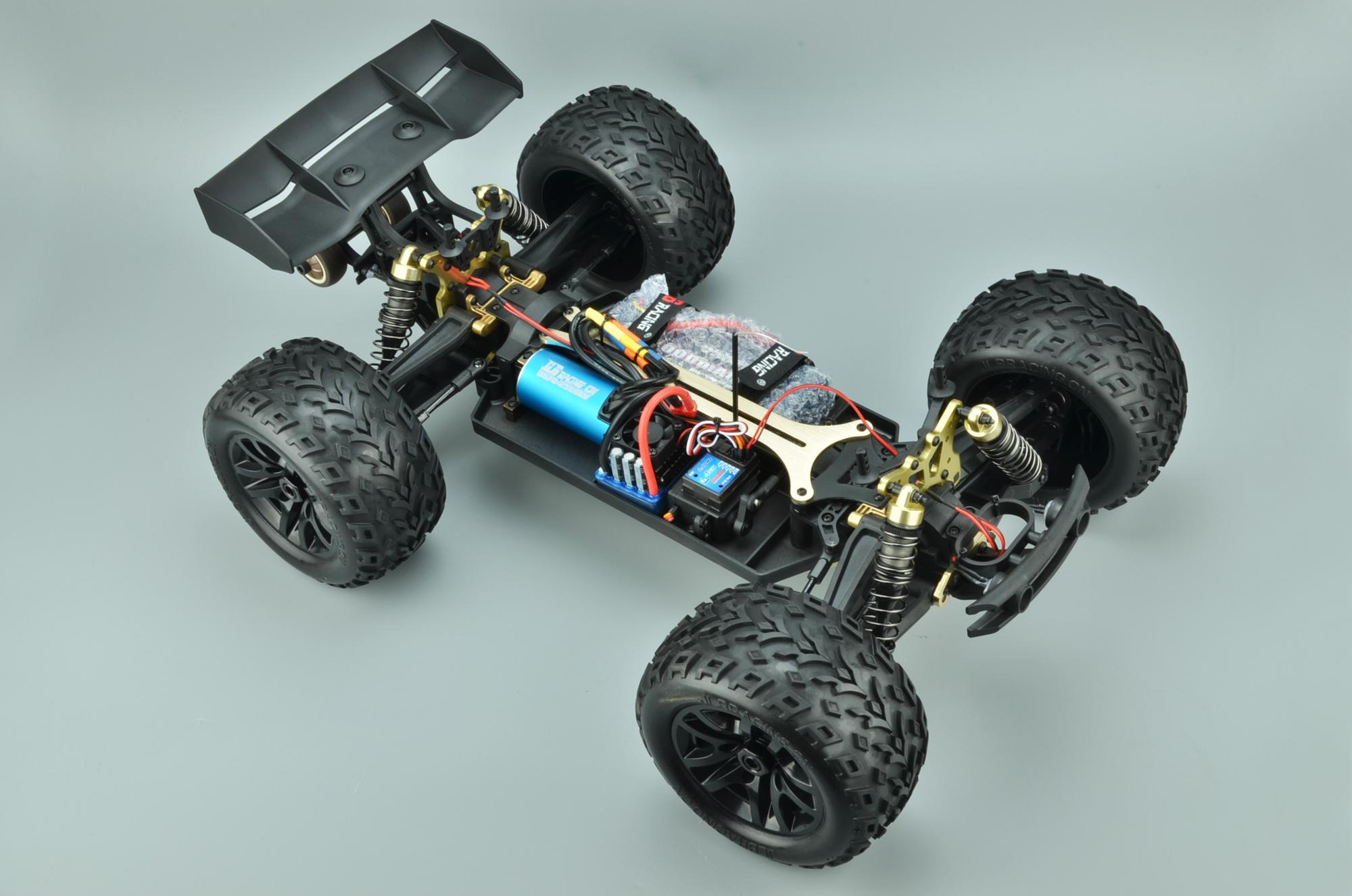 1/10 Scale Brushless RC Car, 100 KM/H 4WD 2.4GHZ RC Truck 4x4 Off Road RTR Monster Truck Waterproof  Electric RC Car