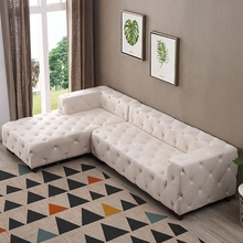 Classical cheap l shaped button corner home <strong>furniture</strong> sofa