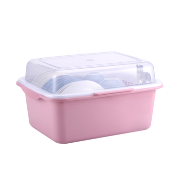 Multi-function and convenient  plastic kitchen dish rack with drain