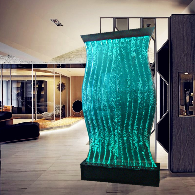 Customized size home hotel restaurant bar led bubble wall water panel background wall <strong>screen</strong>