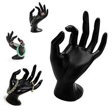 Black Polyresin Hand Form Jewelry Display Bracelet Ring Necklace Stand Ceramic Dish holder <strong>plate</strong>