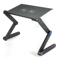 2020 Aluminum Notebook Laptop Stand Folding Adjustable Portable Computer Table With Mouse Pad