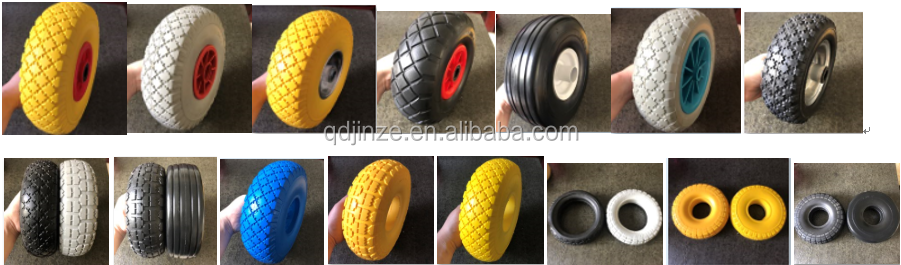 260*85 PU FOAM WHEEL, 300X4 WHEEL, 10'' 3.00-4 FLAT FREE TIRES