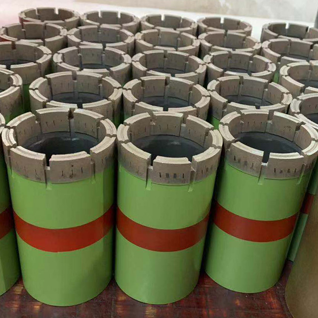 T2 T6 double tube diamond core drill bits for surface exploration