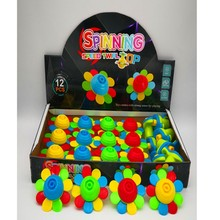 Wholesale 4-floors shining music spining top for kids