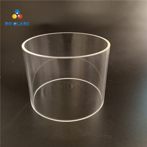 Sight glass lighting use transparent pyrex borosilicate glass tube