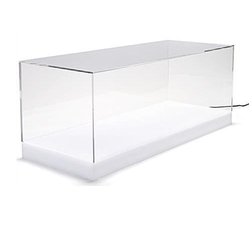 30 <strong>x</strong> <strong>12</strong> Countertop Display Case <strong>w</strong>/ <strong>16</strong>-Color LED Base Acrylic Lift-Off Top - Clear